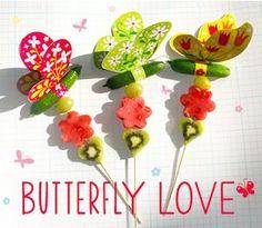 komkommer vlinders traktatie