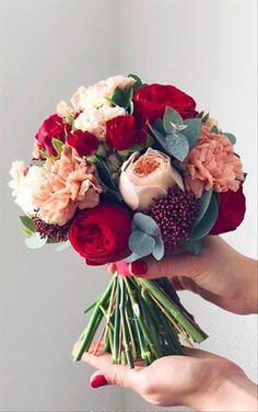 Choose your favorite bouquet ❤️ 5 or / Blush Wedding Flowers, Winter Wedding Flowers, Rustic Wedding Flowers, Blush Bridal, Bridal Flowers, Flower Bouquet Wedding, Bride Bouquets, Floral Bouquets, Floral Flowers