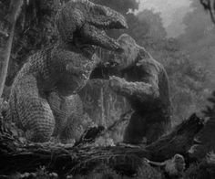 King Kong 1933...fight scene with the T-Rex is a classic one.