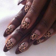 Estelledarlings's cheetah print nails