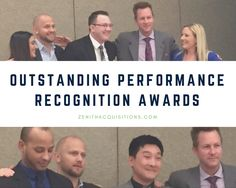 This quarter's outstanding performance recognition award goes to Erik, Steve, and Marcellus with Zenith Acquisitions! These three were recognized in front of their peers at a recent conference in Austin, Texas. Way to represent Zenith Acquisitions and the team! Congratulations! #awards #recognition #conference #travel  #ZenithAcquisitions
