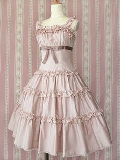 Victorian Maiden / Jumper Skirt / Petal Frill Bustier Dress