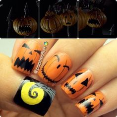 halloween by captain8bit  #nail #nails #nailart