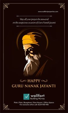 Happy Gurpurab to all the Sikhs and to everyone who is a well-wisher of the ideals of Sikhism. Let us all celebrate his Janam divas, Prakash Utsav Divas of Guru Nanak Jayanti. Hindu Festivals, Indian Festivals, Creative Poster Design, Creative Posters, Guru Nanak Wallpaper, Dussehra Wallpapers, Guru Nanak Jayanti, Graphic Design Lessons, Nanak Dev Ji