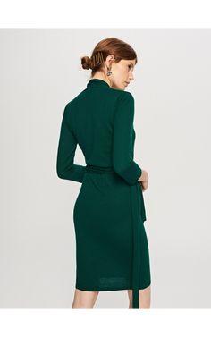 Sukienka z golfem, Sukienki, kombinezony, khaki, RESERVED