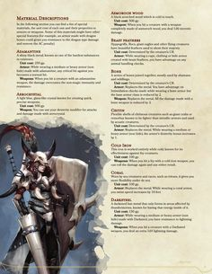 DnD 5e Homebrew — Wilderness Surivival Guide excerpts: Collecting...