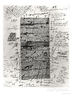 Page from One of Balzac's Works with Handwritten Corrections - Gicléetryck av Honore de Balzac på AllPosters.se