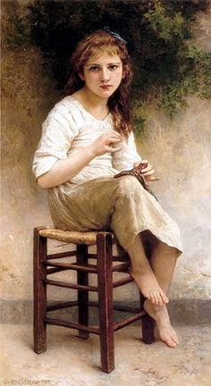 William-Adolphe Bouguereau (1825—1905) - Young Sewing Girl.