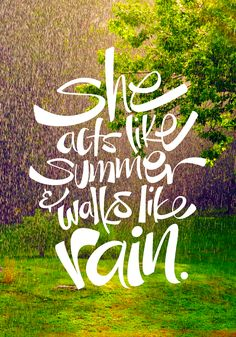"""She acts like summer."" Poster design with hand-lettered lyrics from ""Drops of Jupiter"" by Train. Summer Quotes, Quotes about Summer, Quotes about Sunshine Song Quotes, Music Quotes, Music Lyrics, Cute Quotes, Train Lyrics, Qoutes, Bitch Quotes, Attitude Quotes, Quotations"