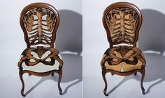 How many times have you been told to sit properly? This chair might be just what you need.Sam Edkins, a designer from London, loves old furniture. He blings it up, to create something completely new. Like the Anatomically Correct Chair. You can buy them