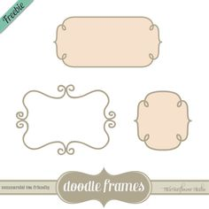 Free Doodle Frames Custom Shapes, Brushes, Vectors & PNG Clipart - StarSunflower Studio