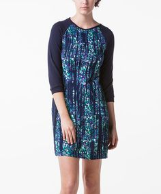 This Blue Tie-Dye Sheath Dress is perfect! #zulilyfinds