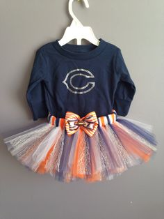 Chicago Bears Inspired Shirt and Tutu Outfit by sugarbabybow015 on Etsy