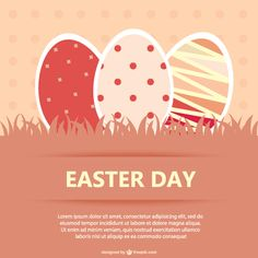 Easter Eggs Greeting Card Vector