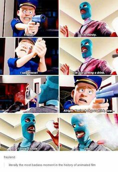 FROZONE IS LEGIT THE BEST CHARACTER IN THE INCREDIBLES