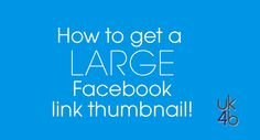Not getting a big enough image thumbnail for Facebook link posts?  More good graphics information from Louise Myers