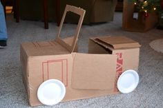 Don't throw those boxes away.  Make any of a dozen things for your dramatic play area.  If you make it, they will come.