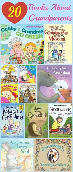 Mending the Piggy Bank | 20 Books About Grandparents --  Here are 20 books about grandparents that you can read to your kids or, if possible, have the grandparents loan the book from the library now and have them read it to your kids over the phone or on Skype -- that would leave such a beautiful memory for your kiddos! These would make great gift ideas for Grandparent's Day too!