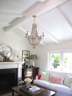 8 Astounding Useful Ideas: False Ceiling Lights Lamps false ceiling watches.False Ceiling Living Room L Shape cnc false ceiling design.False Ceiling With Wood Home. False Ceiling Living Room, My Living Room, Living Spaces, Cottage Living, Vaulted Ceiling Lighting, Coffered Ceilings, Home Interior, Interior Design, False Ceiling Design