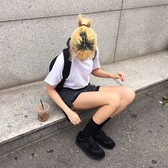 Live your dreams Best Street Style, Street Style Outfits, Fashion Outfits, Nice Outfits, Hair Color Streaks, Kenma Kozume, Kuroken, Ulzzang Girl, Korean Girl