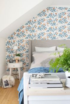 Try an accent wall in your bedroom.