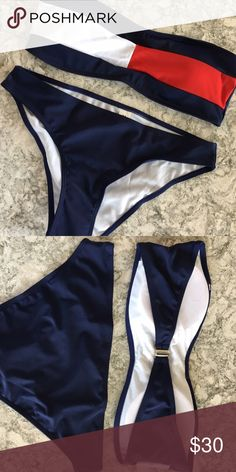 Tommy Hilfiger bikini dupe Look alike of urban outfitters Tommy Hilfiger swim suit. Size small!  (Not actually urban or Tommy) Urban Outfitters Swim Bikinis
