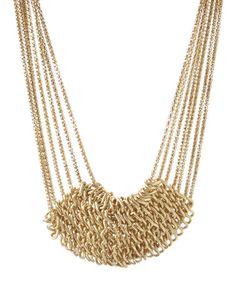 Look what I found on #zulily! Gold Multi-Strand Statement Necklace #zulilyfinds