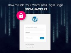 Hide WordPress Login Page From Hackers And Brute Force https://visualmodo.com/hide-wordpress-login-page-hackers/ #WordPress #Security #Hack #Protection #Login