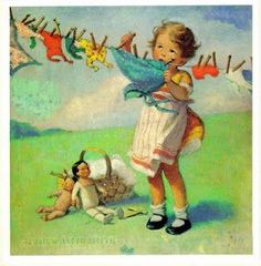 Image result for jessie willcox smith doll clothes on a clothesline