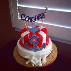 United States Coast Guard themed Congratulations Cake