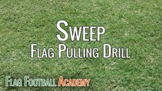 Flag pulling drill that I use almost every practice.