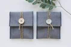 Linen USB Packaging Pouch Grey by LakariCreativeStudio on Etsy