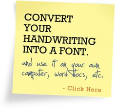 Handwriting font - your OWN!