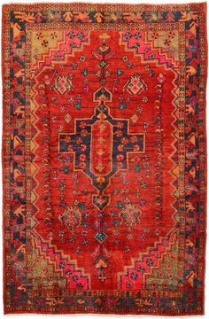 Red 5' 1 x 7' 9 Hamedan Rug | Persian Rugs | eSaleRugs