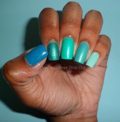 Ombre nails by Nail A College Drop Out