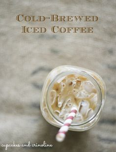 How to Make the Perfect Cup of Iced Coffee and a Giveaway | Cupcakes and Crinoline