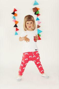 Spodnie Skuter czerwone - mamatu - Spodnie dla dzieci