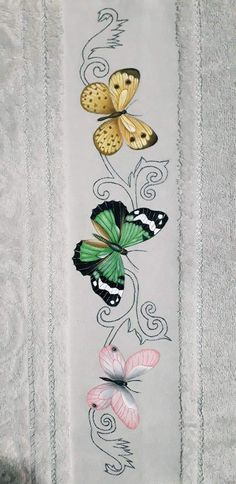 Fabric Painting, Moth, Safari, Decoupage, Insects, Decoration, Hand Painted, Flowers, Bath Towels & Washcloths