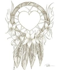 this would be a cool ankle tattoo    Dream Catcher By Rhionna On Deviantart Design 840x863 Pixel