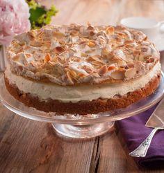 Leckere Torte mit Pflaumen oder anderen Früchten