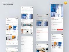 Here's an interesting freebie for you today -- Real Estate App Concept by no other than Kishore! Its day out of 365 day of Kishore's design campaign using Sketch and he's giving us this new UI k App Ui Design, Mobile App Design, Interface Design, Ui Kit, Design Campaign, Challenge, Mobile App Ui, Us Real Estate, Web Design Inspiration
