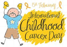 Colorful Cute Doodle of Boy for International Childhood Cancer Day
