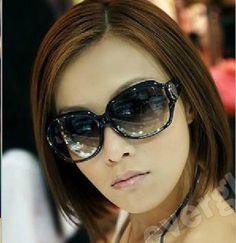 Nova chegada de moda óculos de sol Mulheres Black Frame café FRETE GRÁTIS US $1.65