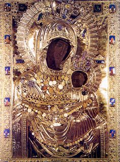 The Miraculous Icon of Panagia Portaitissa (the Keeper of the Portal) Blessed Mother Mary, Madonna And Child, John The Baptist, Thing 1, Virgin Mary, Orthodox Icons, Religious Art, Our Lady, Byzantine