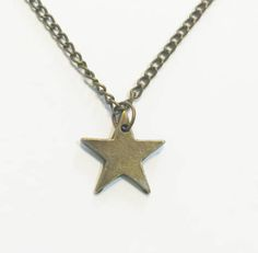 Antique Bronze Small Star Pendant Choker Necklace Chain Necklace Pendant Necklace Charm Necklace Simple Hobo Bohemian Necklace