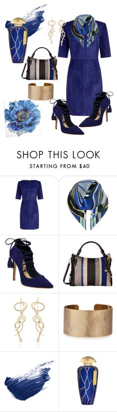 """dark blue"" by teresalovespink ❤ liked on Polyvore featuring MuuBaa, Emilio Pucci, Schutz, Jessica Simpson, Panacea, By Terry, The Merchant Of Venice and Pier 1 Imports"