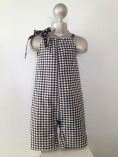 Black and White Gingham Pillowcase Romper by BabySuzannaJohanna, $30.00