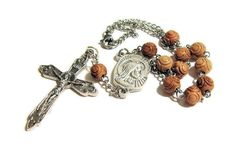Auto Rosary, Catholic Rosary, Car Rosary, One Decade Rosary, Travel Rosary, Etched Wood by JMRosariesandGifts on Etsy