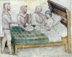 Pourpoints and doublets added 81 new photos to the album: Iluminace - Manuscript Miniatures. Medieval Bed, Medieval Life, Renaissance Furniture, Renaissance Era, Medieval Manuscript, Illuminated Manuscript, Renaissance Architecture, Late Middle Ages, Historical Art