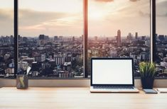 Laptop on table in office room on window city background #paid, , #ad, #Affiliate, #office, #room, #background, #table Photography Names, Photography Backdrop Stand, Office Background, City Background, Photoshop Program, Funny Poses, Free Background Images, Office Pictures, Wall Colors